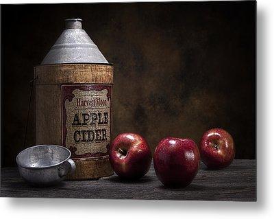 Apple Cider Still Life Metal Print