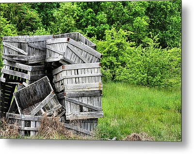 Apple Crates Metal Print by JC Findley