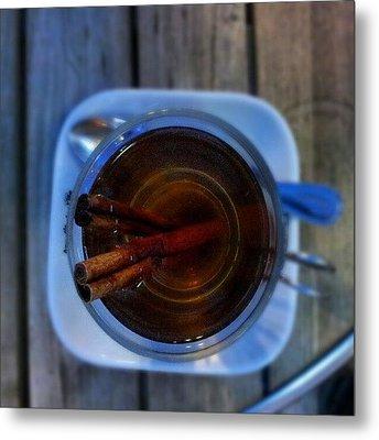 #apple #juice #tea #coffee #cinamon Metal Print