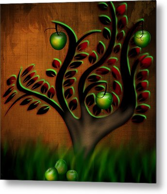Metal Print featuring the digital art Apple Tree by Katy Breen