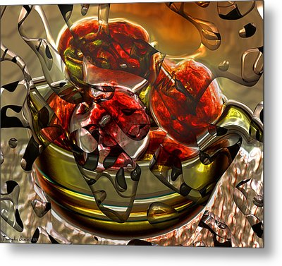Apples That Adam Was An Inadequate Response. Metal Print by Tautvydas Davainis