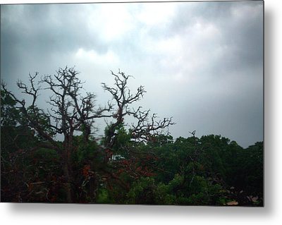 Metal Print featuring the photograph Approaching Storm Viewed Through My Rain Streaked Window by Lon Casler Bixby