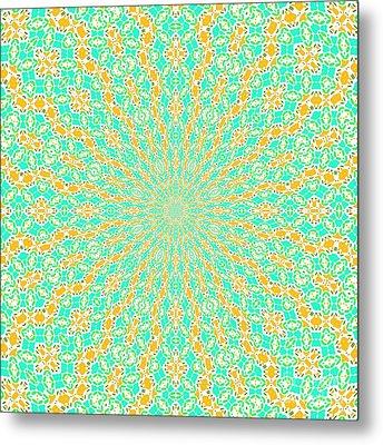 Aqua Soleil Metal Print