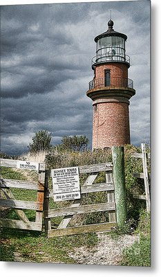 Metal Print featuring the photograph Aquinnah Light I Marthas Vineyard by Jack Torcello