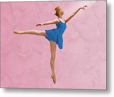 Arabesque For A Rose Metal Print by Delores Knowles