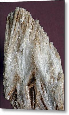 Aragonite Crystals Metal Print