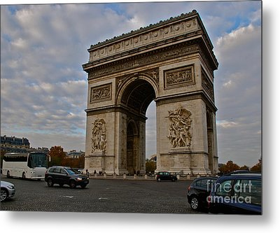 Metal Print featuring the photograph Arc De Triomphe by Eric Tressler