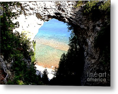 Metal Print featuring the photograph Arch Rock by Anne Raczkowski