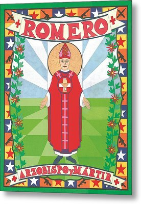 Archbishop Romero Icon Metal Print by David Raber