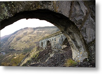 Metal Print featuring the photograph Arches And Mountains by Steve McKinzie