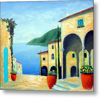 Arches On The Riviera Metal Print by Larry Cirigliano