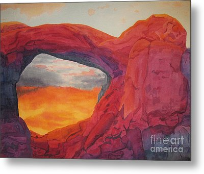 Arches Sunfire Metal Print by Vikki Wicks