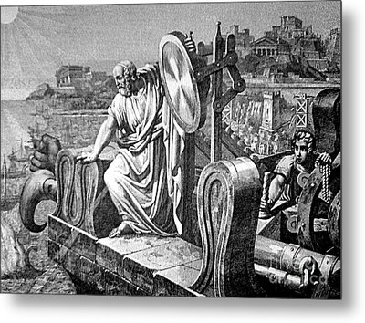 Archimedes Heat Ray, Siege Of Syracuse Metal Print by Science Source