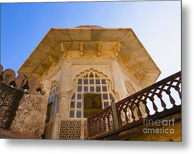 Architectural Details Of The Amber Fort Metal Print by Inti St. Clair