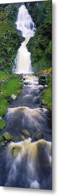Ardara, Co Donegal, Ireland Waterfall Metal Print by The Irish Image Collection