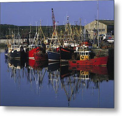 Ardglass, Co Down, Ireland Fishing Metal Print by The Irish Image Collection