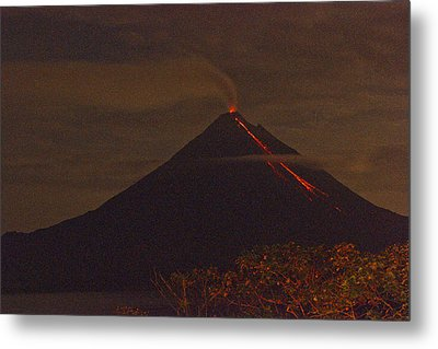 Arenal By Night Metal Print