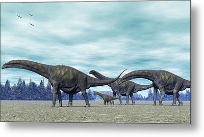 Metal Print featuring the digital art Argentinosaurus by Walter Colvin