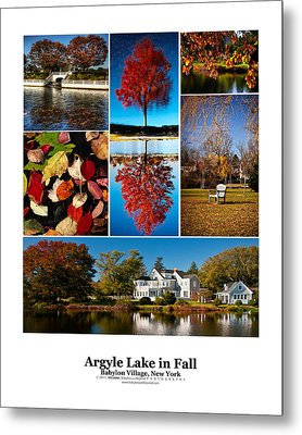 Argyle Lake Fall Poster Metal Print by Vicki Jauron