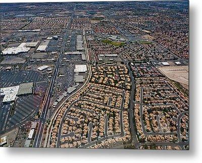 Arial View Of Las Vegas Metal Print by Susan Stone