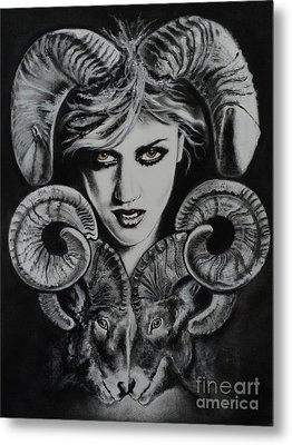 Aries The Ram Metal Print by Carla Carson
