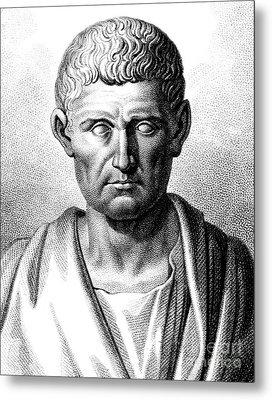 Aristotle, Ancient Greek Polymath Metal Print by Science Source