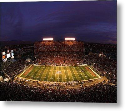 Arizona Arizona Stadium Under The Lights Metal Print by J and L Photography
