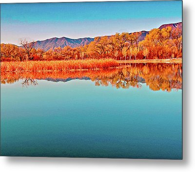 Arizona Dead Horse State Park Metal Print by Bob and Nadine Johnston