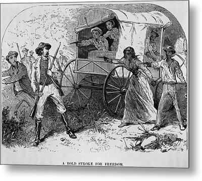 Armed Fugitive Slave Family Defending Metal Print by Everett