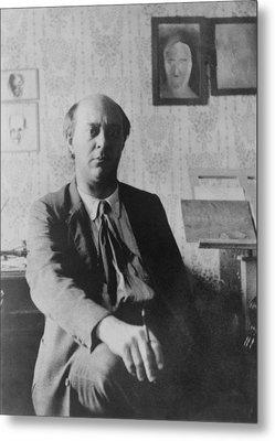 Arnold Schoenberg 1874-1951 Metal Print by Everett