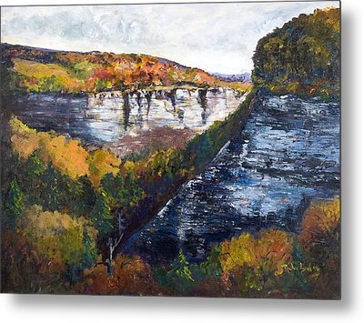 Metal Print featuring the painting Around The Bend by George Richardson