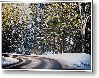 Around The Bend Metal Print by Lisa  Spencer