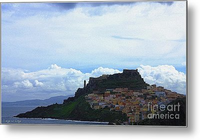 Metal Print featuring the photograph Arriving @castelsardo by Mariana Costa Weldon