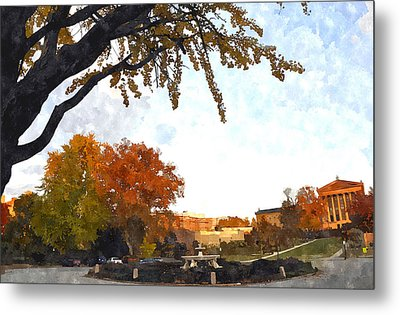 Art In The Fall Metal Print by Andrew Dinh
