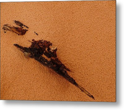 Art In The Sand Metal Print