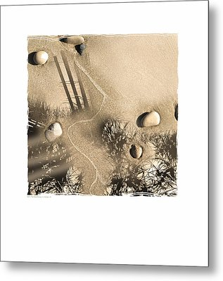 Art In The Sand Series 3 Metal Print