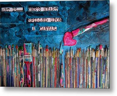 Art Is Blue Version Metal Print by Patti Schermerhorn