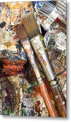 Art Is Messy 2 Metal Print by Carol Leigh