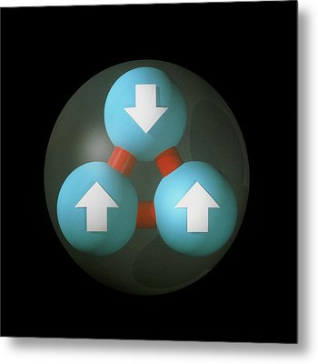 Art Of Proton Showing Constituent Quarks Metal Print by Laguna Design