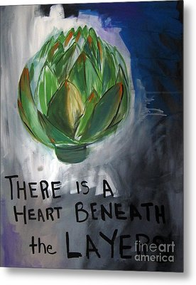 Artichoke Metal Print by Linda Woods