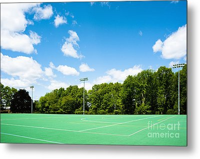 Artificial Turf Athletic Field Metal Print by Sam Bloomberg-rissman