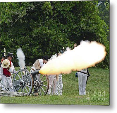 Artillery Demonstration Metal Print by JT Lewis
