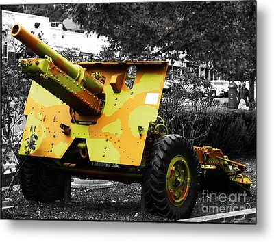 Metal Print featuring the photograph Artillery Piece by Blair Stuart