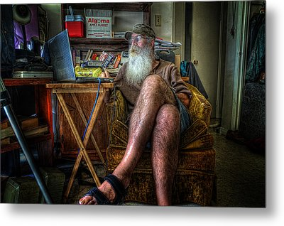 Artist In Repose Metal Print