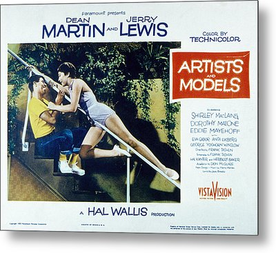 Artists And Models, Jerry Lewis Metal Print by Everett
