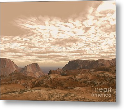 Artists Concept From Atop Olympus Mons Metal Print