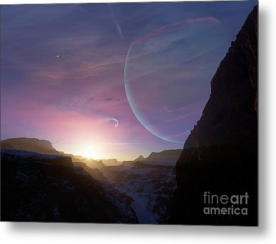 Artists Concept Of A Scene Metal Print by Brian Christensen