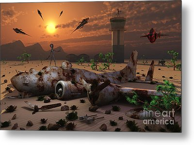 Artists Concept Of A Science Fiction Metal Print by Mark Stevenson