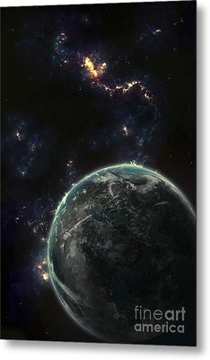 Artists Concept Of A Terrestrial Planet Metal Print