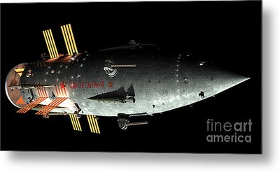 Artists Concept Of An Orion-drive Metal Print by Rhys Taylor